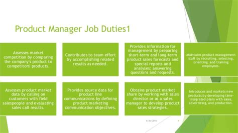 product manager description product manager description