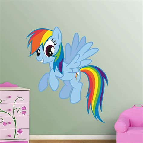 rainbow dash room rainbow dash fathead wall decal
