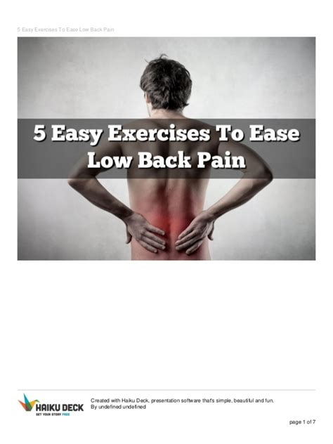 lower back exercises ease your 5 easy exercises to ease low back 1