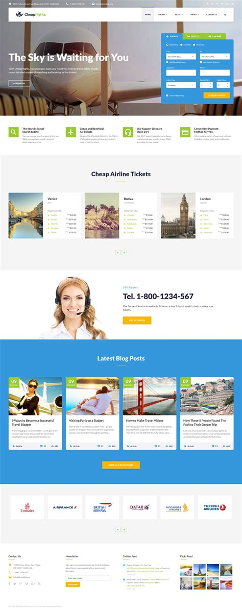 flight booking template flight booking website template