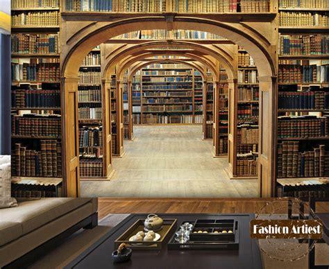 kaufen gro 223 handel bibliothek tapete wandbild aus
