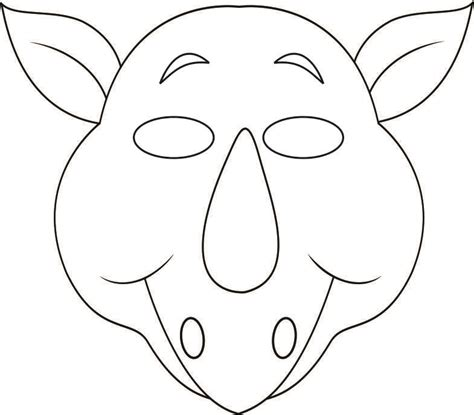 animal mask templates jungle masks