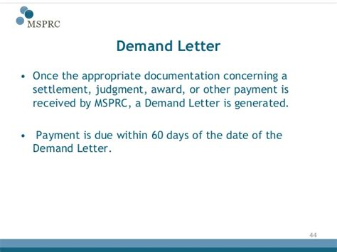 Demand Letter For Judgment Payment Recovery Process Medicare