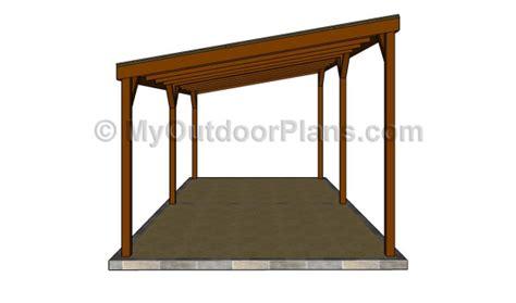 single lean to or freestanding timber carport wood carport designs myoutdoorplans free woodworking
