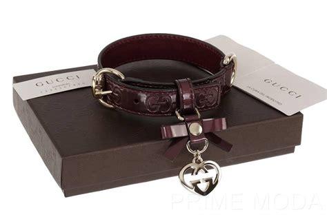 gucci collar new gucci luxury gg guccissima print logo plum shine cat pet collar m ebay