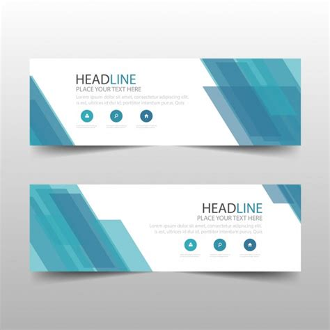 banner design vector template blue abstract banner template design vector free download