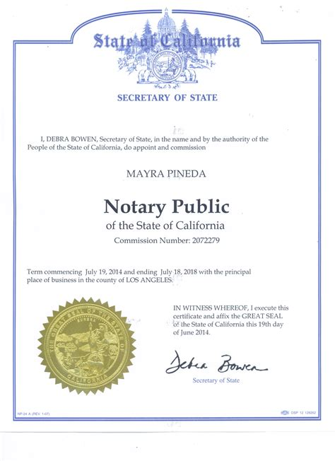 National Notary Association Background Check Mayra Pineda Notary Home