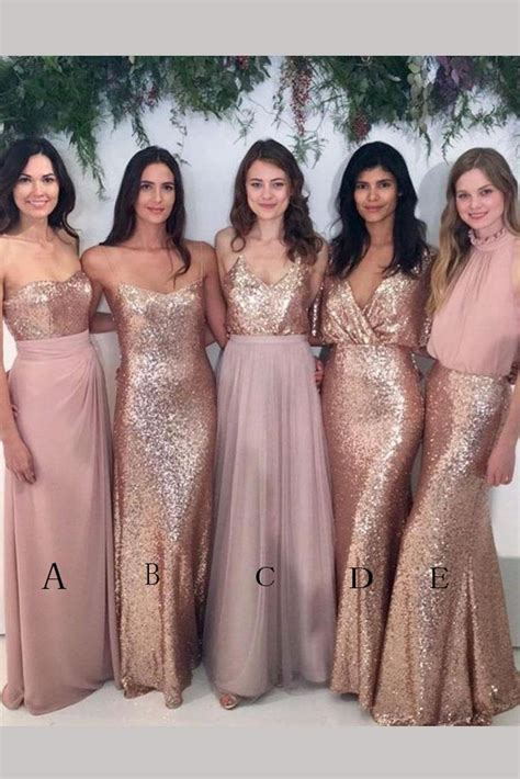 Longdress Set 2in1 Glitter Pink blush pink sparkly mismatched gold sequin bridesmaid dress simibridaldress