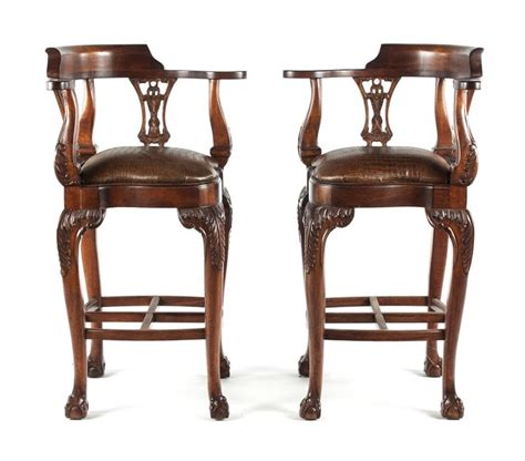 chippendale style bar stools to be sold at march 2014 antique auction lot 1443 six