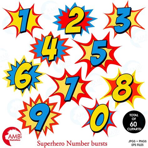 number clip starburst numbers clipart 1340 illustrations creative