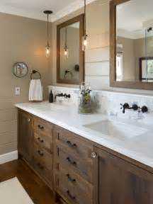 farmhouse bathroom idea san diego with dark wood cabinets brown ideas small design