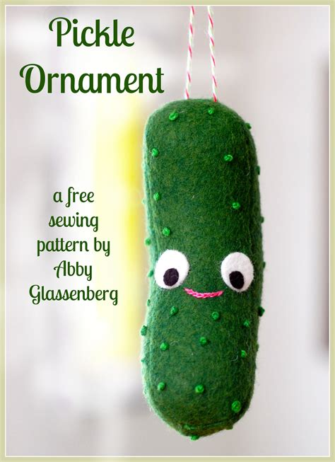 free christmas sewing pattern pickle ornament christmas