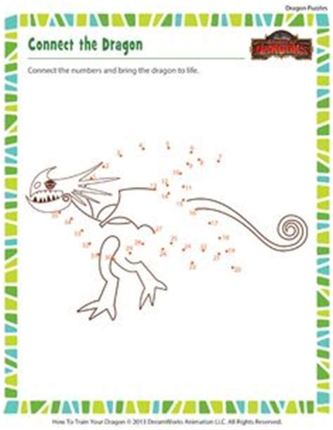 printable dragon puzzle connect the dots how to train your dragon toothless