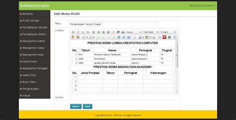 Source Code Website Profil Sekolah Dengan Php Mysql website sekolah dan pendaftaran siswa baru php mysql