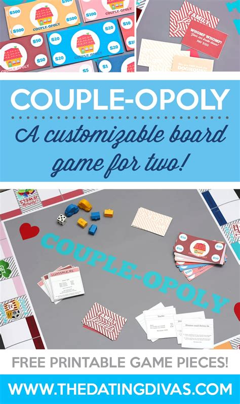 printable card games for couples customizable game couple opoly the dating divas