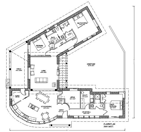 courtyard style house plans bale courtyard plan