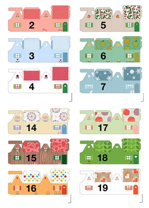 free printable advent calendar template gi det videre pay it forward adventskalendere dag 1
