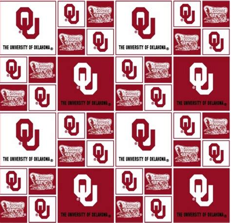 Oklahoma Upholstery by Cotton Of Oklahoma Sooners College Team Cotton