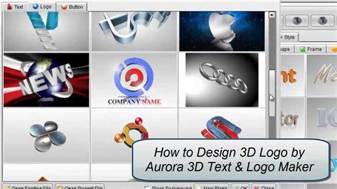 design text maker online 3d logo design by aurora 3d text logo maker youtube