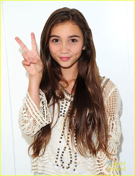 Full Sized Photo of rowan blanchard so excited for pretty