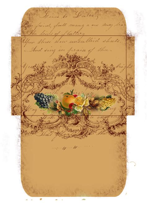 printable vintage envelope astrid s artistic efforts freebie for your autumn