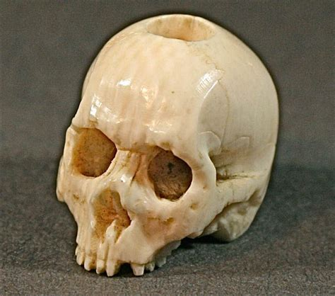 ivory skull vary small antique elephant ivory japanese netsuke skull