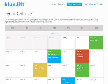 event listing website template best photos of website event calendar template