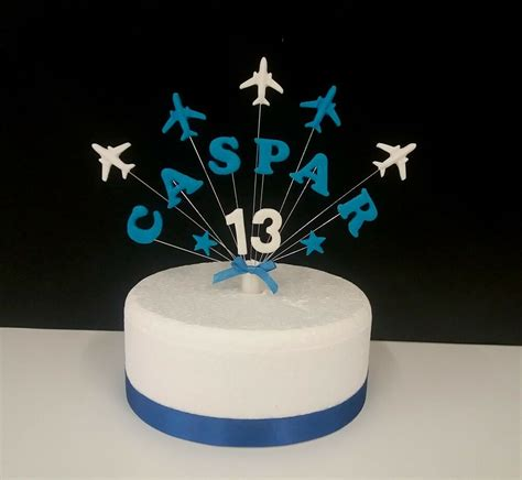 aeroplane plane personalised  age birthday cake topper ebay