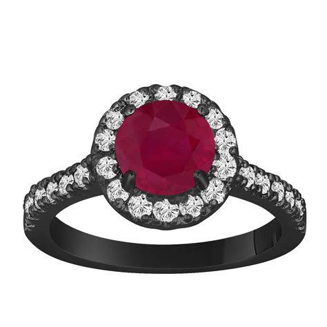 Ruby 25 65 Carat ruby engagement ring 1 65 carat vintage style