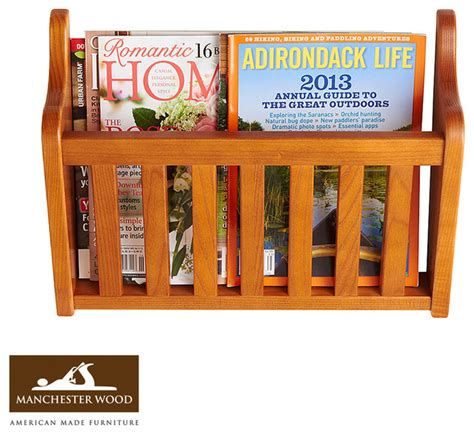 Magazine Display Rack Wall by Wall Magazine Rack By Manchester Wood Traditional
