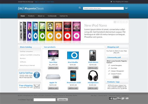 magneto template 40 free magento themes for your shopping store