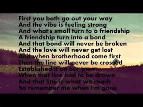 Wiz Khalifa Lyric Paul Walker see you again wiz khalifa with lyrics paul walker
