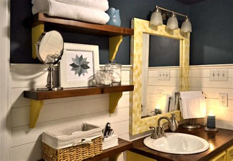 Bathroom Mirror Makeovers by Diy Mirror Frame Small Bathroom Makeovers Before And