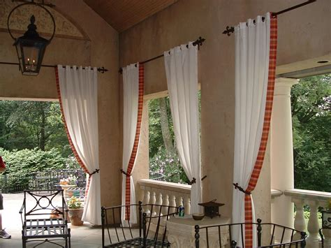 outdoor curtain rods for patio cloth marvelous storage screened porchtains ideas best