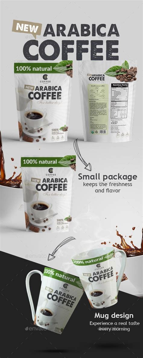 package design templates illustrator arabica coffee packaging design vector eps foil bag