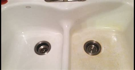 remove stains   porcelain sink discover  ideas  porcelain sink clean