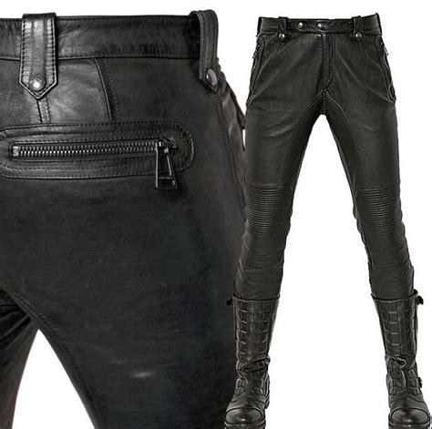 pantalon cuero hombre pantalones cuero hombre baratos