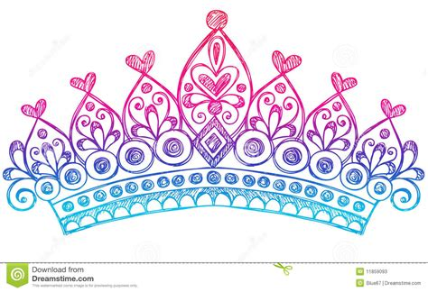doodle name prince sketchy princess tiara crown notebook doodles stock vector