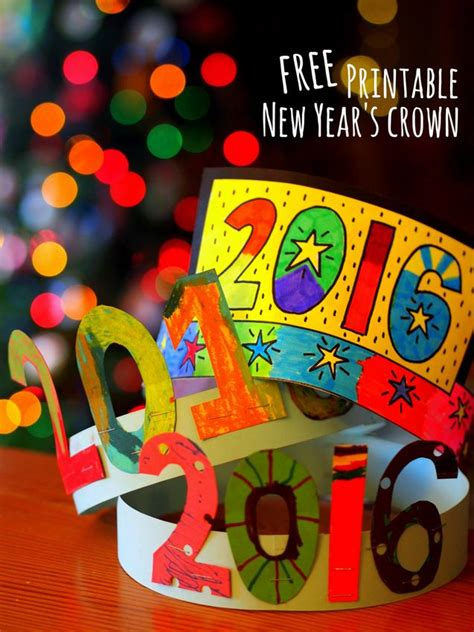new years craft free printable new year s crown crafting new year s and