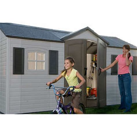 Lifetime 15 Ft X 8 Ft Outdoor Storage Shed by Lifetime 15 Ft X 8 Ft Outdoor Storage Shed