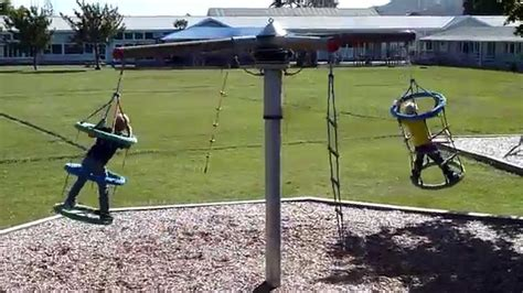 rotating swing spinning circus outdoor swing sets youtube