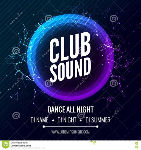 design banner club modern club music party template dance party flyer