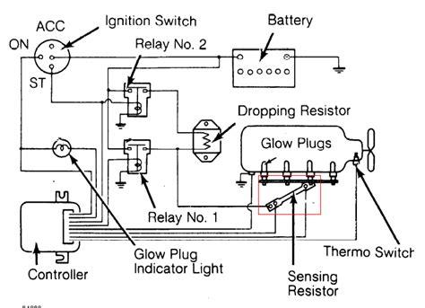 95 gmc glow relay wiring diagram l3010 glow