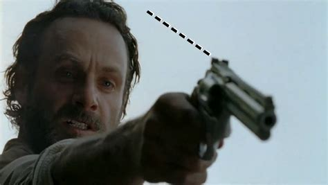 Walking Dead Revolver the dig why rick can t shoot the walking dead image up