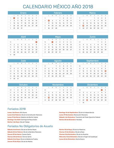 Calendario 2018 Semana Santa Mexico Calendario 2018 Dias Festivos Mexico 28 Images D 237