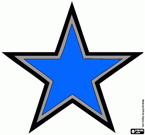 cowboys star coloring page free coloring pages of dallas cowboy star