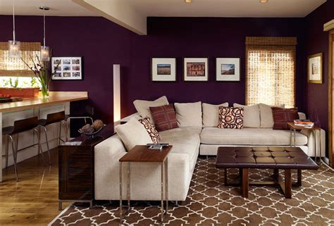 Aubergine Living Room by Cozy Livingroom Eclectic Living Room Los Angeles