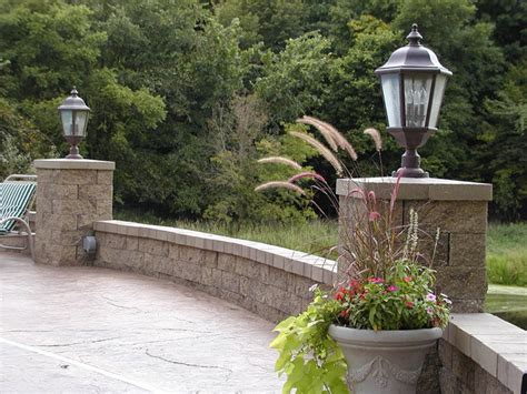 retaining wall accent lights backyard patio with accent lighting contemporary