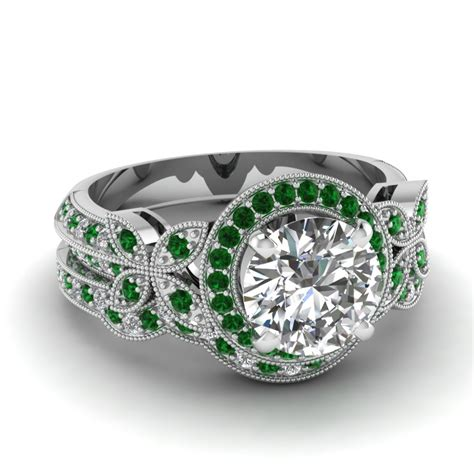 white gold pattern ring top designs of art deco engagement rings style online