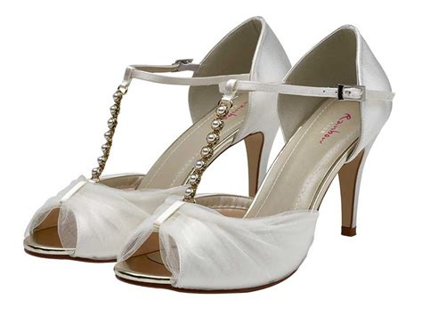 Satin Sandals Wedding by Rainbow Club Ivory Tulle And Satin Wedding Sandals